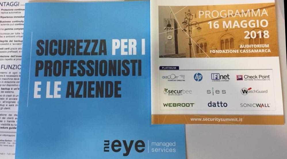 Anche quest'anno Sies è stato sponsor del Security Summit 2018 a Treviso